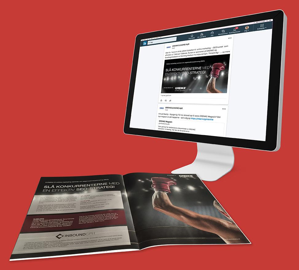 Grenke annonce på tryk og online