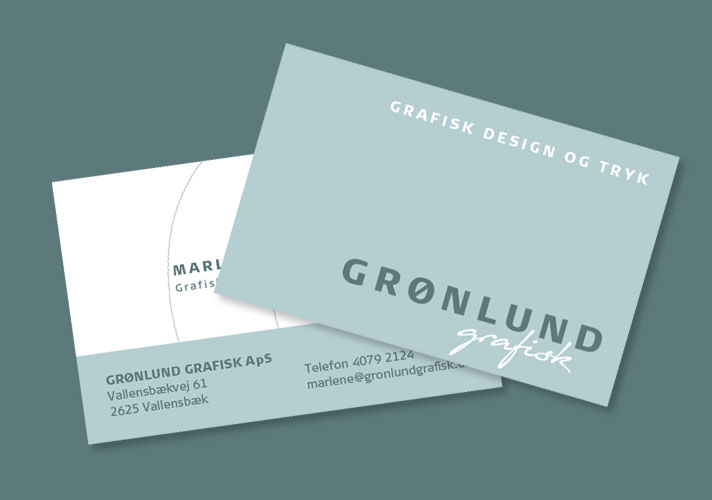 Design og tryk af visitkort